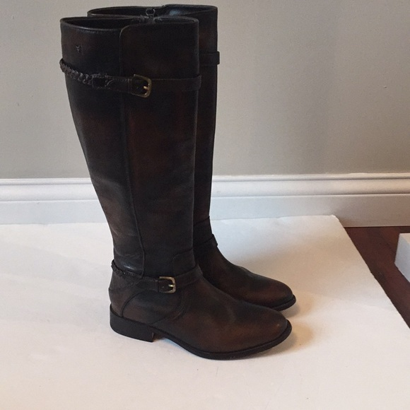 ec045ad05f1 Trask tall riding boots dark brown leather 7m. M 5bb628972e1478cd21d84830